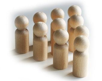 Toddler Peg Doll, 10 x 4.3cm Waldorf Toys,  Peg People, Little People, Wood Peg, Craft Supplies, Little People Boy