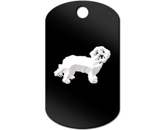 Havanese Engraved GI Tag Key Chain Dog Tag blanquito v2 - MDT-359