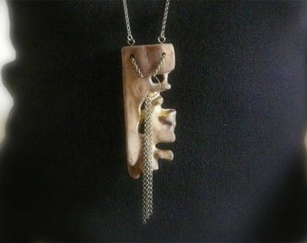 Magic forest, the enchanted forest, necklace, wood necklace, wood