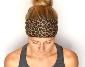 Fitness Headband - Workout Headband - Running Headband - Yoga Headband - Jungle Cat