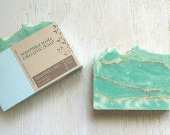 Organic Soap ~ Abalone + Sea Soap ~ Handmade Soap ~ Cold Process Soap