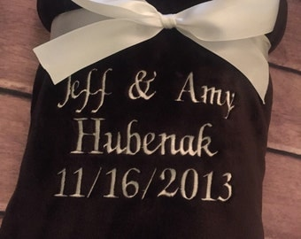 Personalized throw blanket- Your choice of wording