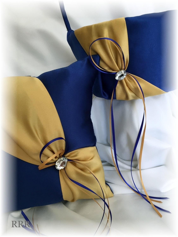 Royal Blue And Gold Wedding Flower Girl Basket Blue Wedding Basket