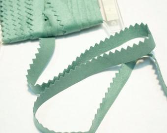 Green Seafoam Suede Trim | Triangle Cut Green Trim | Mokuba Trim