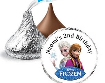 Frozen Hershey Kisses Labels candy stickers