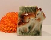 Ceramic Deer Vase - Vinta...