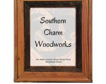 8x10 Picture Frame made with reclaimed barn wood/ Wood Frame          Sku: 121
