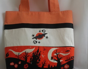Trick or Treat Bag * Halloween Bag * Halloween Tote * Bat Tote Bag * Bat Trick or Treat Bag *