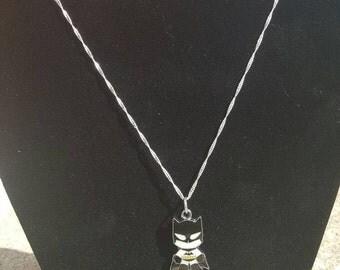 Sterling Silver Batman necklace