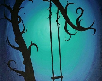 Blue Tree With swing