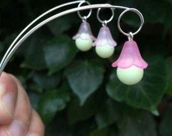 Create your own shape - 3 x Enchanting Pixie Wood Glow In The Dark Silver Faery Garden Lanterns