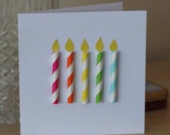 Birthday Candles Handmade Birthday Card
