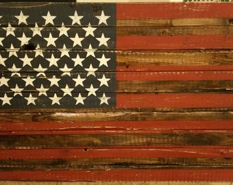 Vintage American Flag Wall Hanging