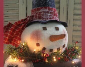 """Primitive Snowman Head PATTERN """"A Frosty Tale"""""""