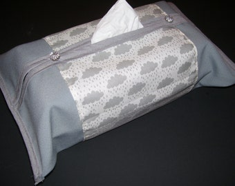 TISSUE BOX COVERS - rainy tissue box covers - rainy home decor - rainy kleenex box - rainy covers - cloud tissue box covers - cloudy decor