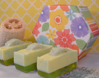 Lemon Loffa Soap Bars