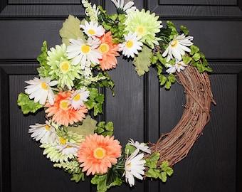 Floral Spring Door Wreath