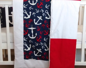 SALE**Reversible Nautical baby boys quilt
