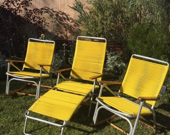 Set of Vintage Telescope Lawn Chairs