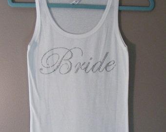 "SALE - ""Bride"" BLING TANK"