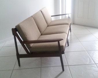 Mid Century Modern Solid Wood Sofa