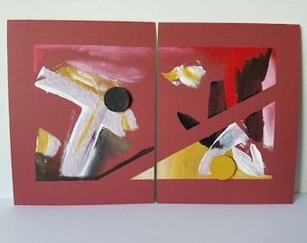 "Mixed Media Painting ""Divided"""