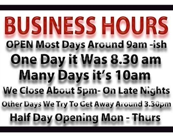 Business,Funny, Metal Sign,  No.558