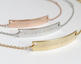 Custom Engraved Bracelet- Coordinates Bracelet, Customized Couple Bracelets, Latitude Longitude Bracelets, Mens Latitude and Longitude