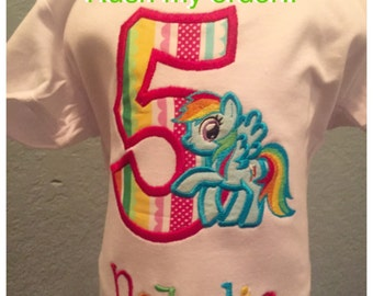 My Little Pony Birthday shirt Personalized just for you with RUSH shipping