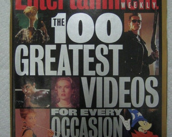 "ENTERTAINMENT  WEEKLY -  August 4 , 1995  ""Special Collector's  Edition "" - 100 Greatest Videos"