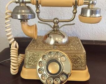 Vintage Ornate Arabesque Elegance Cradle Series Rotary Telephone-Circa 1983
