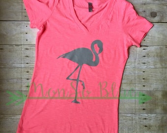 Summer Shirt, Flamingo Shirt, Beach Clothes, Flamingo Tee
