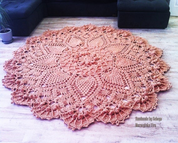 Extra Large Round Crochet Rug Carpet