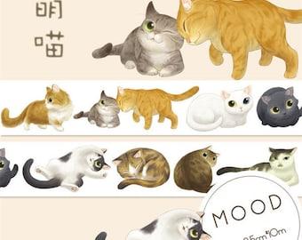 Cat Washi tape sale/Cat masking tape/Cute washi tape/Washi tape/Decorative tape/Kitten masking tape/Cat masking tape for life planner tape
