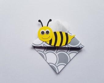 5 pack handmade bumble bee origami bookmark DIY kit