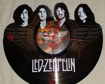 Vinyl Wall Clock LED ZEPPELIN