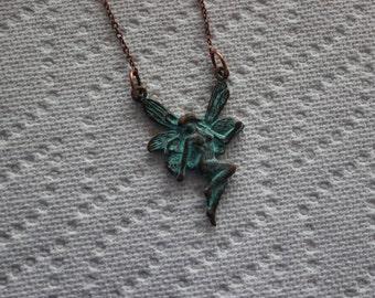 patina fairy necklace