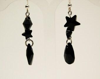 Star loop crystal earrings chic stainless steel creating Crystal Ev. # Rock Star jewelry