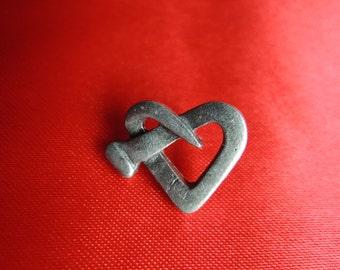 Steampunk Heart Lapel Pin