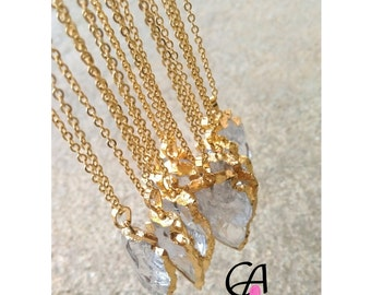 Quartz arrow gold plated