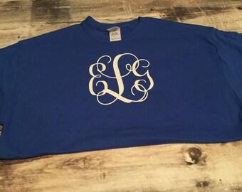 Long sleeve monogrammed shirt