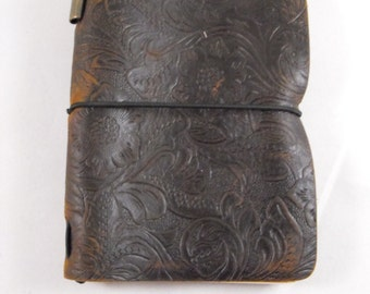 Small Travelers Leather Pocket Notebook