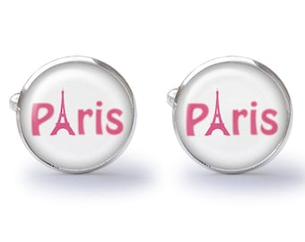 Paris Cufflinks - France Cufflinks - Eiffel Tower Cuff Links (Pair) Lifetime Guarantee (S0129)
