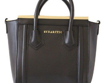 Sybaritic Prance Faux Leather Small Satchel