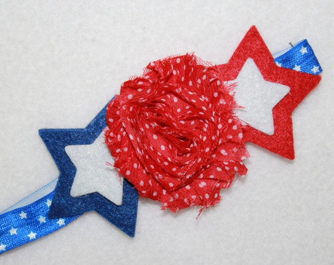 Independence day Headband, Girls Fourth of July headband,Baby girl 4th of July headband Red, White, and Blue Headband, Star headband
