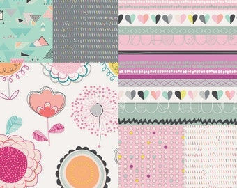 Sale 17.00 - Playing Pop by Art Gallery Fabric - Fabric Bundle - Fat Quarter Bundle