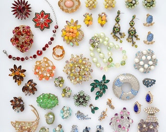 Vintage Jewelry Rainbow Fine Art Print