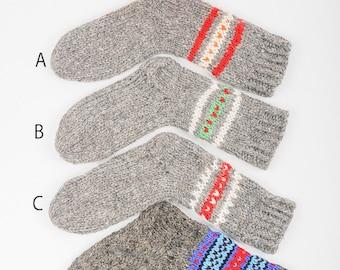 Wool socks Knitted socks Woolen warm Socks Hand knitted socks Hand knit socks Woolen hoziery For him For her Christmas gift [SS-5]