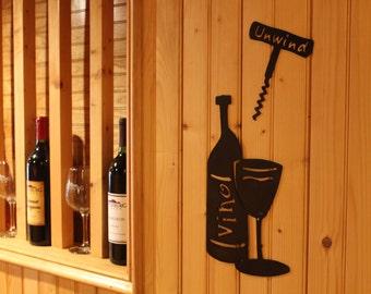 Wine Bottle- wall art- wine decor- wine art