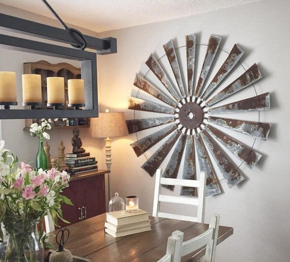 Windmill Wall Art huge 60 inch windmill wall art industrial farmhouse-gift